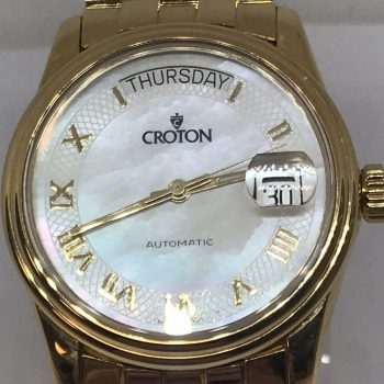 Croton 18k Yellow Gold Automatic Presidential